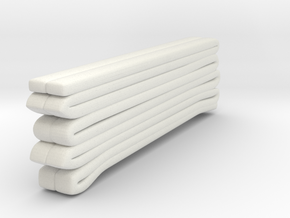 1/87 Seagrave Squrt Hose Load 2 shorter in White Natural Versatile Plastic