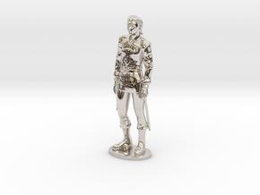 Half-Elf Miniature in Platinum: 1:55