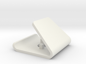 Phone and Earphones stand in White Natural Versatile Plastic