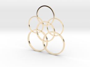 Stylish circulars pendant  in 14k Gold Plated: 1:10