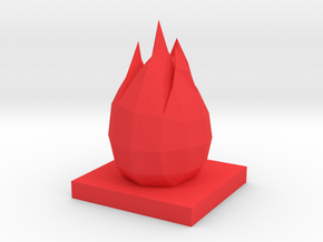 FIRE ELEMENTAL DRAGONSTONE in Red Processed Versatile Plastic