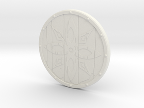"""BotW"" Wooden Shield in White Natural Versatile Plastic: 1:12"