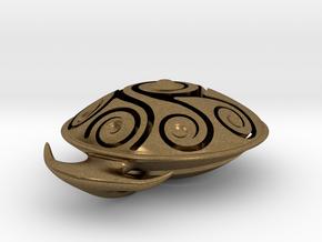 Handpan Instrument Pendant v3 in Natural Bronze
