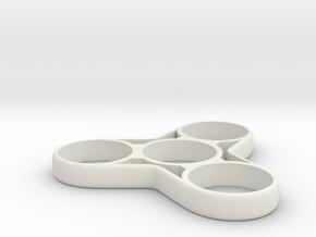 Fidget Spinner 2 in White Strong & Flexible