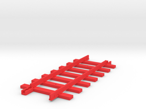 Triang Big Big Train Track 7 Sleepers in Red Processed Versatile Plastic