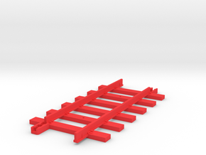 Tri-ang Big Big Train Track 6 Sleepers in Red Processed Versatile Plastic