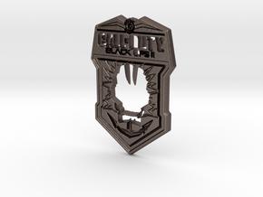 Black Ops II logo in Polished Bronzed Silver Steel