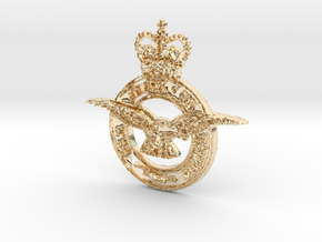 Royal air force logo in 14k Gold Plated Brass