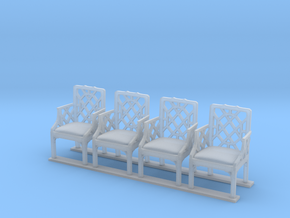 Armchair 01. O Scale (1:43) in Smooth Fine Detail Plastic