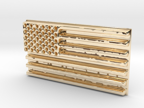 American flag in 14k Gold Plated