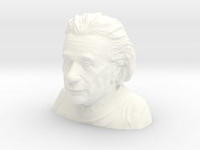 Einstein Bust 4in Sans Mustache in White Strong & Flexible Polished