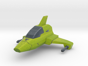 Mini cartoon Starship in Full Color Sandstone