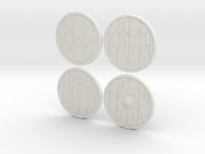"""BotW"" Basic Shields Set in White Natural Versatile Plastic: 1:12"