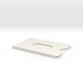 Bank card case in White Natural Versatile Plastic