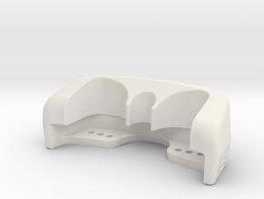 RG BK Triclamp Protector v1 in White Natural Versatile Plastic