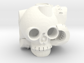 Skull D6 in White Strong & Flexible Polished