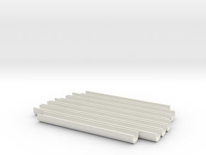 """U"" Barrel Tracks for ROTJ E-11 in White Natural Versatile Plastic"