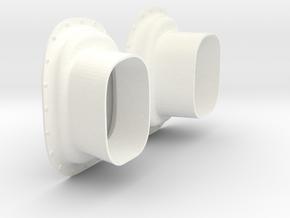 1.8 TUYERES EC725 X2 in White Processed Versatile Plastic