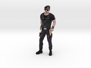 Sylvester Stallone 3D Model ready for 3d print in Full Color Sandstone