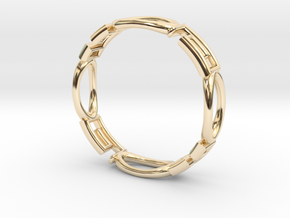 Shapes  R-001 in 14k Gold Plated Brass