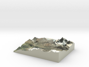 "Matterhorn / Monte Cervino Map: 8.5""x11"" (21x27 cm in Glossy Full Color Sandstone"