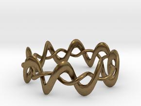 DMT Wrap Ring in Natural Bronze (Interlocking Parts)