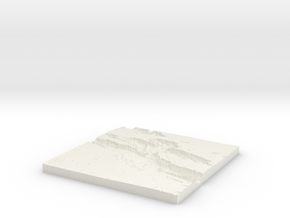 Diorama Base 04 War Zone in White Natural Versatile Plastic