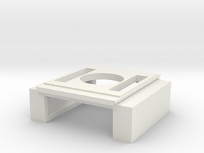 SD60E Intercooler (S Scale) in White Natural Versatile Plastic