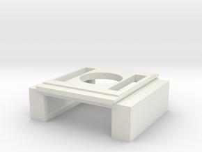 SD60E Intercooler (S Scale) in White Natural Versatile Plastic