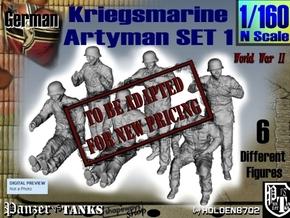 1-160 Kriegsmarine Artyman Set1 in Transparent Acrylic
