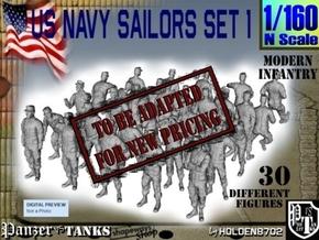 1-160 USN Modern Sailors Set1 in Transparent Acrylic