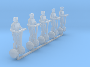 1:160 n scale 5 person on Segway in Smooth Fine Detail Plastic