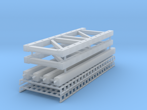 Pallet Rack 2 High in Smooth Fine Detail Plastic