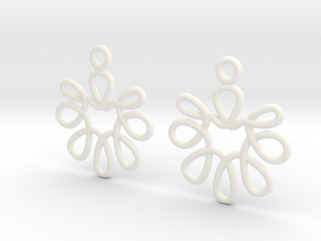 Celtic Weave Earrings - WE001 in White Processed Versatile Plastic