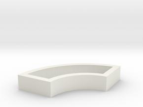 Parkhecke quadratisch doppelt gerundet (Buchsbaum) in White Natural Versatile Plastic