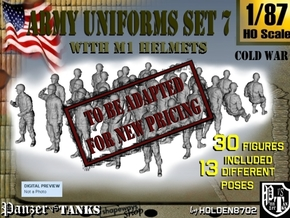 1-87 Army Modern Uniforms Set7 in Transparent Acrylic