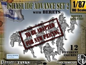 1-87 IDF BERET ADVANCE SET 3 in Transparent Acrylic