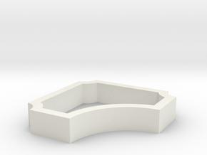 Parkhecke quadratisch einfach ausgerundet Ecken ei in White Natural Versatile Plastic
