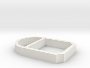 Parkhecke oval verstrebt Ecken eingerückt (Buchsba in White Natural Versatile Plastic