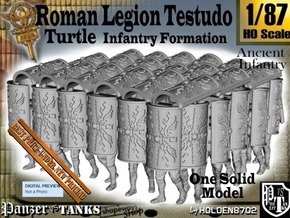 1-87 Roman Testudo in White Natural Versatile Plastic