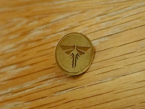 "The Last of Us Firefly pin 3/4"" Dia. in Natural Brass"
