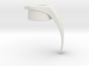 Grenade Handle in White Natural Versatile Plastic