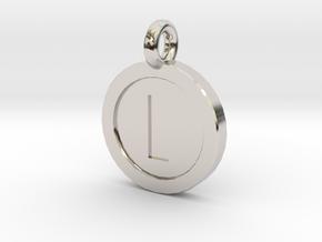 Mario Coin Pendant/Keychain in Platinum