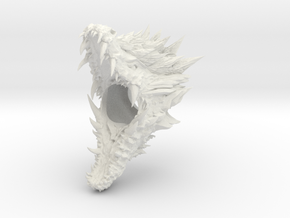 Dragon Blade Ring in White Natural Versatile Plastic