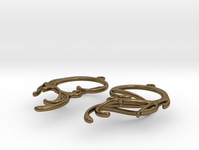 Melting Curl Earrings in Natural Bronze