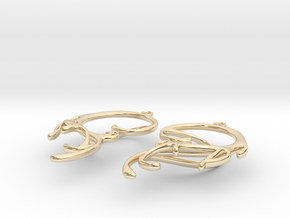 Melting Curl Earrings in 14K Yellow Gold