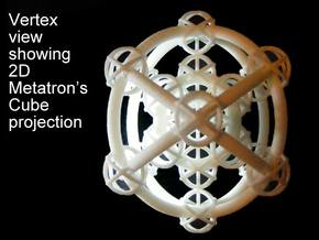 Metatron's Hypercube Variations 50mm in White Natural Versatile Plastic