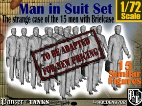 1/72 Man In Suit W/ Briefcase Set in Transparent Acrylic
