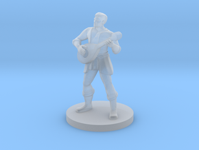 Male Human Bard in Smooth Fine Detail Plastic