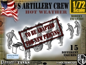 1-72 US Artillery Crew Hot Weather in Transparent Acrylic